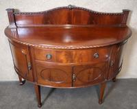 """Edwardian Mahogany """"D"""" Shaped Sideboard / Chippendale Style (9 of 12)"""