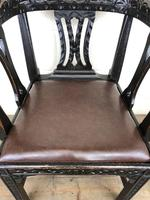 Victorian Carved Oak Gothic Armchair (M-1223) (9 of 12)