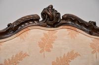 Antique French Carved Walnut Salon Armchair (9 of 10)