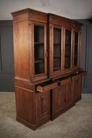 Large French Oak Breakfront Bookcase (3 of 19)