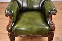 William IV Hand Dyed Leather Armchair (7 of 12)