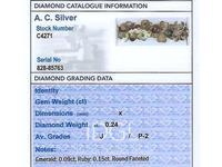 0.24ct Diamond, 0.15ct Ruby & Emerald, 18ct Yellow Gold Clover Cufflinks - Antique c.1910 (2 of 6)