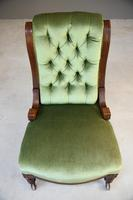 Victorian Mahogany Nursing Chair (3 of 9)