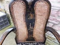 Stylish Regency Chinoiserie Lacquered Desk Chair (2 of 7)