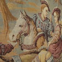Antique Verdure Tapestry, French, Decorative Panel, Wall Covering, Victorian (7 of 12)