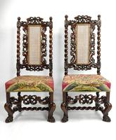 Fine Set of Four Late 17th - Early 18th Century Walnut Chairs (11 of 14)