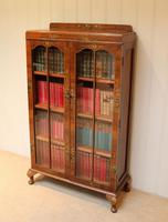 Walnut Chinoiserie Decorated Bookcase (9 of 10)