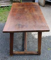 1830's Fruitwood Farmhouse Table with Stretcher (3 of 3)