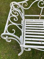 Large French Art Deco Style Fleur De Lis Garden Double Bowed  Curved Bench Seats 3 (4 of 37)