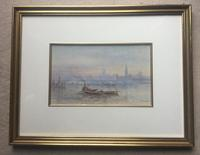 Walter Duncan Watercolour - The Houses of Parliament from the River Thames' (2 of 2)