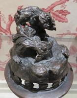 Japanese Bronze Censer & Cover with Kylin on a Rock on the Lid (8 of 10)