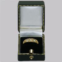 Victorian 18ct Gold 0.60ct Old Cut Diamond Gypsy Trilogy Ring Antique Hallmarked  1896 (7 of 7)
