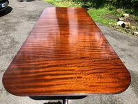 Antique Mahogany Twin Pillar Extending Dining Table (2 of 11)