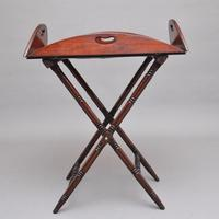 Early 19th Century Mahogany Folding Butlers Tray on Stand (7 of 10)
