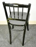 Bentwood Vintage Ebony / Black Floral Print Chair (4 of 9)