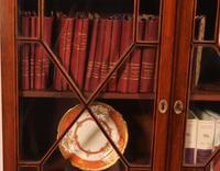 Georgian Glassed Bookcase in Mahogany & Inlays - 18th Century English (8 of 14)