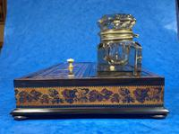 Victorian Rosewood & Tunbridge Ware Inkstand by Thomas Barton (21 of 24)