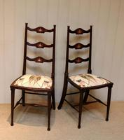 Pair of Beechwood Art Nouveau Chairs (6 of 10)