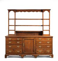 Late 18th Century Oak Dresser and Rack the base with central panel door (2 of 7)