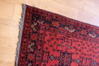 Vintage North West Persian Wool Runner with an all over design upon a red and dark blue ground within multiple borders (4 of 8)