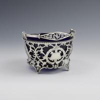Pretty Edwardian Pierced Silver Sugar Basket (8 of 9)
