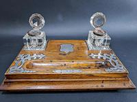 Edwardian Silver Mounted Inkwell & Stand (3 of 6)