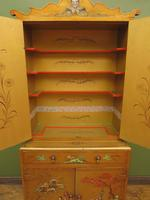 Antique Art Deco Chinese Painted Cabinet, Ornate Gold Decoration, Signed (15 of 28)