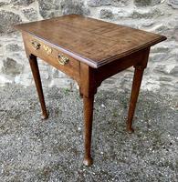 18th Century Georgian Oak Pad Foot Side Table (13 of 15)