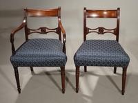 Exceptional Set of 8 Late George III Period Mahogany Framed Chairs (3 of 5)