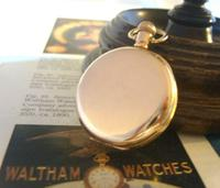 Antique Waltham Pocket Watch 1909 Ladies 7 Jewel 9ct Gold Filled Case With Curious Inscriptions Fwo (7 of 12)