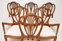 Set of 6 Antique Mahogany Sheraton Style Dining Chairs (8 of 9)