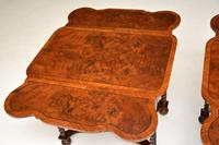 Pair of Antique Burr Walnut Drop Leaf Side Tables (10 of 12)