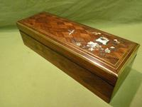 Exquisite French Inlaid – Parquetry Glove – Jewellery Box c.1870 (6 of 11)