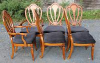 1960's Mahogany Pull Out Table with Set of 6 Dining Chairs.4+2 Carvers (6 of 14)