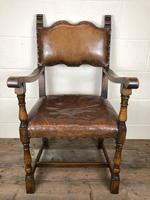Set of Four Antique Leather Armchairs (7 of 16)