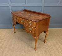 Burr Walnut Bow Fronted Dressing Table (15 of 19)