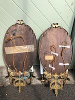 Pair of English Gilt Bronze Mirrored Wall Lights (8 of 8)