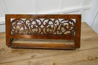 Adjustable Fretwork Figured Walnut Book Rest or, Lutrin (7 of 7)