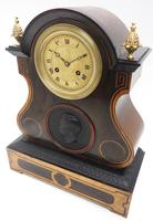Antique French Empire 8-Day Striking Mantel Clock Walnut & Rosewood Case (3 of 5)