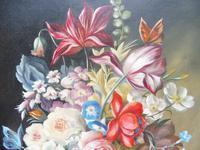 Oil on Canvas Still Life with Parakeet Artist George Rennie (4 of 11)