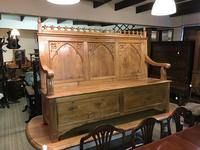 Gothic Pine Bench with storage (3 of 11)