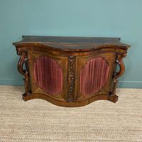Spectacular Figured Rosewood Serpentine Victorian Antique Credenza (8 of 8)