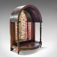 Antique Butler's Mirror, English, Rosewood, Dome Top, Wall, Victorian c.1880