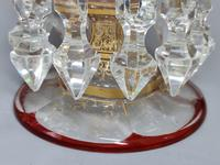 Magnificent Pair of Mid 19th Century Candle Lustres 'Possibly Baccarat' Gilded & Ruby Decoration (7 of 18)