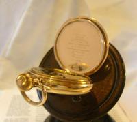 Antique Pocket Watch 1922 Swiss Vertex 7 Jewel Half Hunter 10ct Gold Filled Fwo (10 of 12)