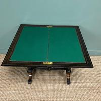 Victorian Ebonized and Walnut Antique Games Table (8 of 9)
