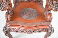 Large Japanese Carved Throne Chair (5 of 12)