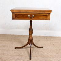 Rosewood Games Table Chess Board Folding Card Table 19th Century (11 of 16)