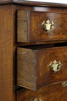 Burr Walnut Serpentine Front Small Chest of Drawers (5 of 6)