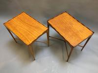 Pair of Edwardian Satinwood Occasional Tables (4 of 11)